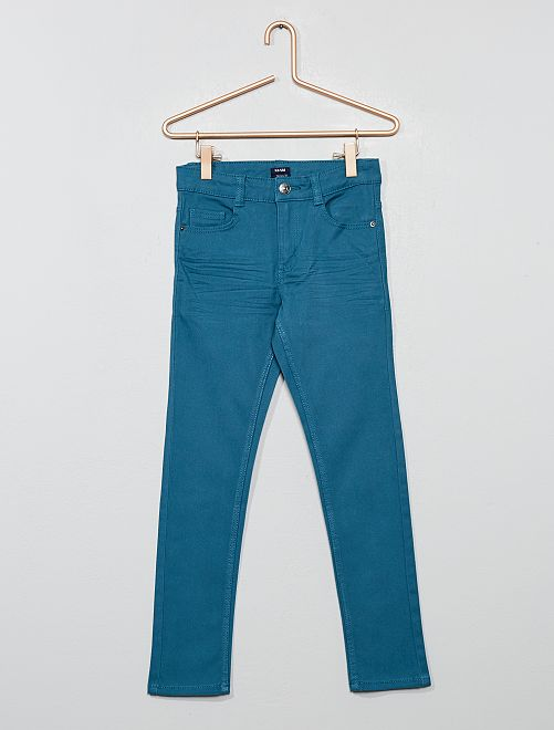 Pantalon skinny cinq poches                                                                                                                                                                 bleu turquoise Garçon