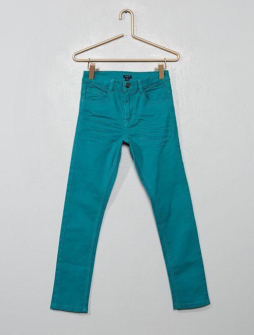 Pantalon skinny cinq poches                                                                                                                                                                                                                                         bleu vert