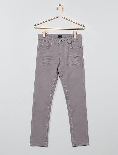 Pantalon skinny cinq poches                                                                                                                                                                 gris ciel Garçon