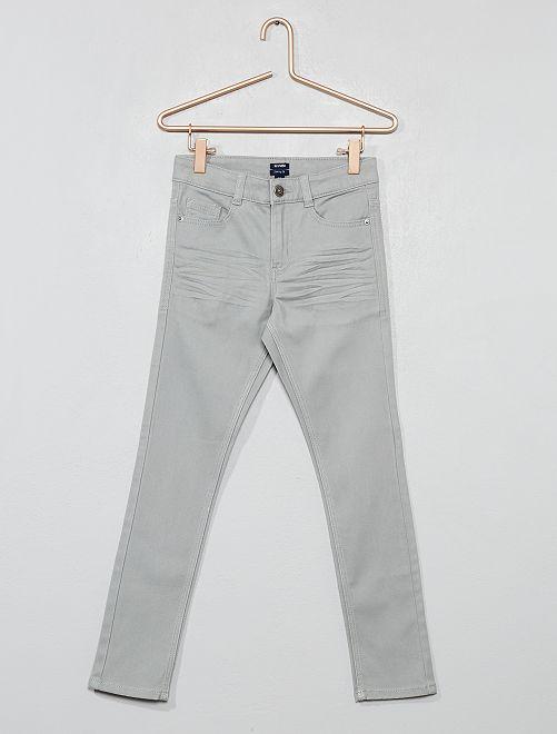 Pantalon skinny cinq poches                                                                                                                                                                                                     gris Garçon