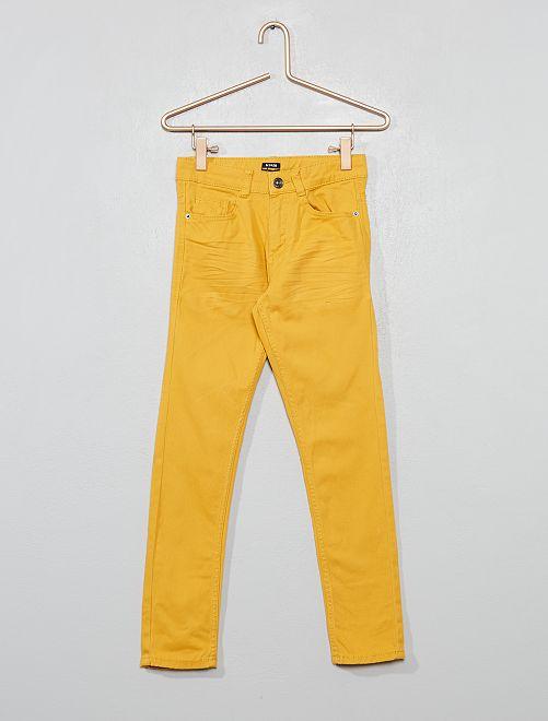 Pantalon skinny cinq poches                                                                                                                                                                                                     jaune doré Garçon