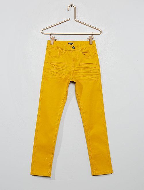 Pantalon skinny cinq poches                                                                                                                                                                                                                                         jaune moutarde