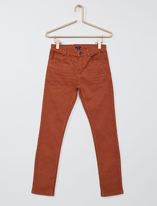 Pantalon skinny cinq poches                                                                                                                                                                                                                 marron clair
