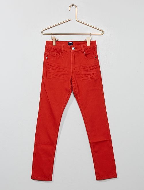 Pantalon skinny cinq poches                                                                                                                                                                                                                                                     orange ketchup