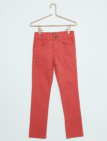 Pantalon skinny cinq poches                                                         rouge Garçon