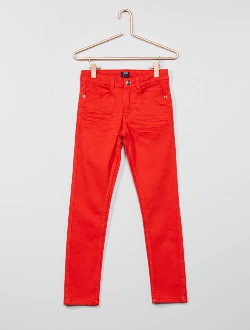 Pantalon skinny cinq poches                                                                                                                                                                                                                                         rouge