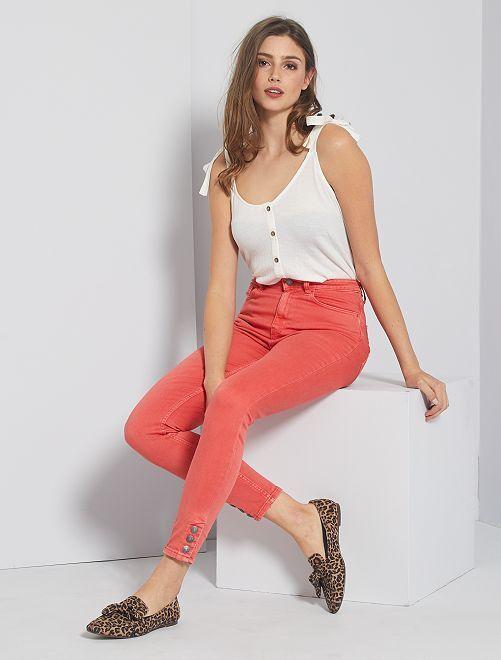 Pantalon skinny de couleur                                                                 rose orangé