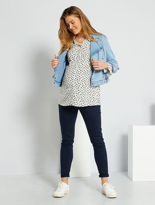 Pantalon skinny de maternité                                                                             bleu