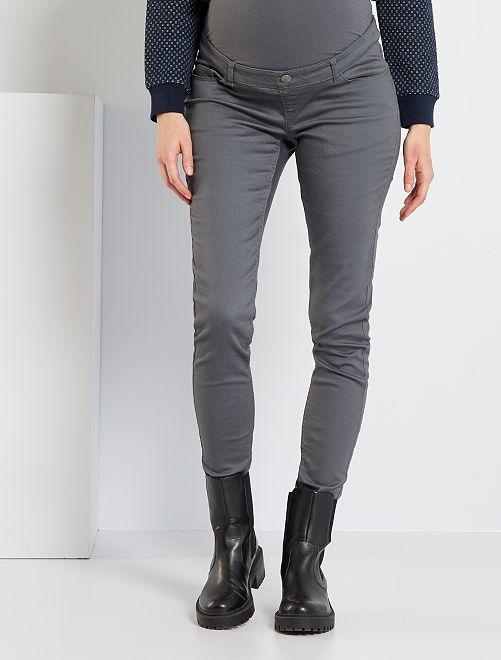 Pantalon skinny de maternité                                                                                         gris Vêtement de grossesse