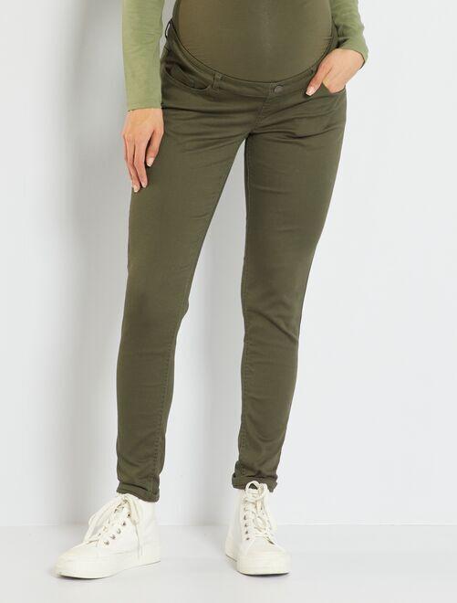 Pantalon skinny de maternité                                                                             kaki Vêtement de grossesse