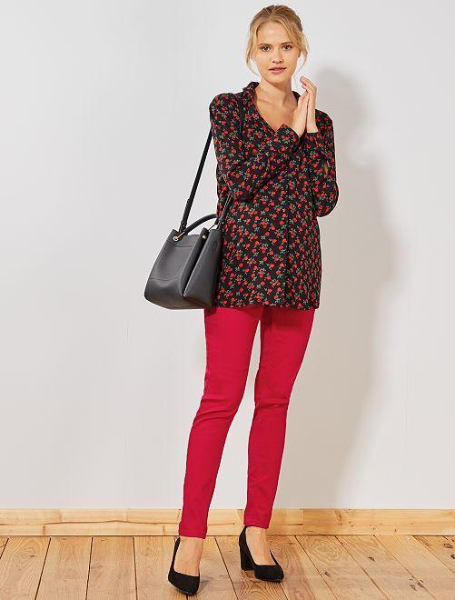 Pantalon skinny de maternité                                                                                                     rouge