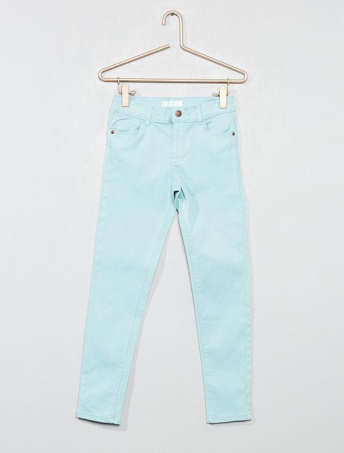 Pantalon skinny en denim                                                                                                                 bleu turquoise Fille