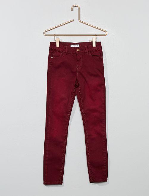 Pantalon skinny en denim                                                                                                                                                     bordeaux