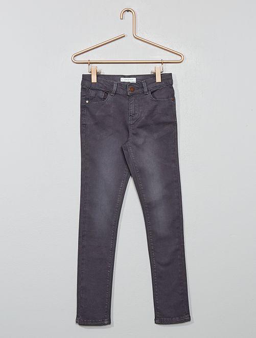 Pantalon skinny en denim                                                                                                                                                     gris souris