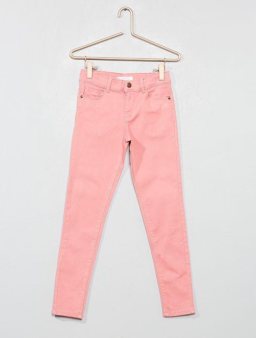 Pantalon skinny en denim                                                                                                                                                     rose clair Fille