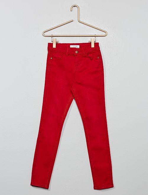 Pantalon skinny en denim                                                                                                                                                     ROUGE