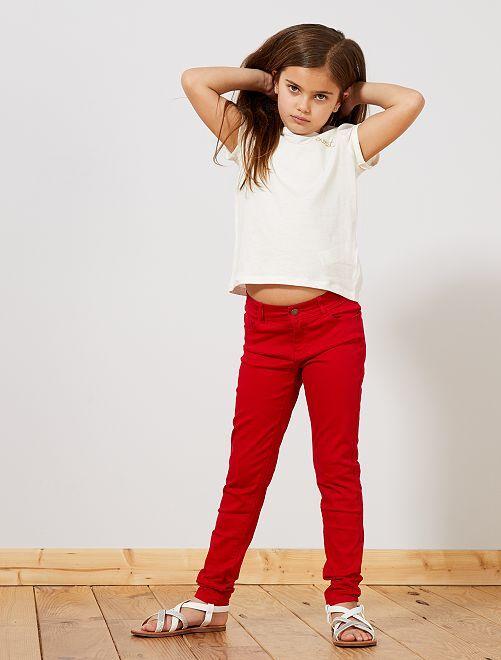 Pantalon skinny en denim                                                                                                                                                                 rouge Fille