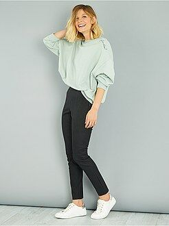 Pantalon taille 34 - Pantalon skinny en simili mat
