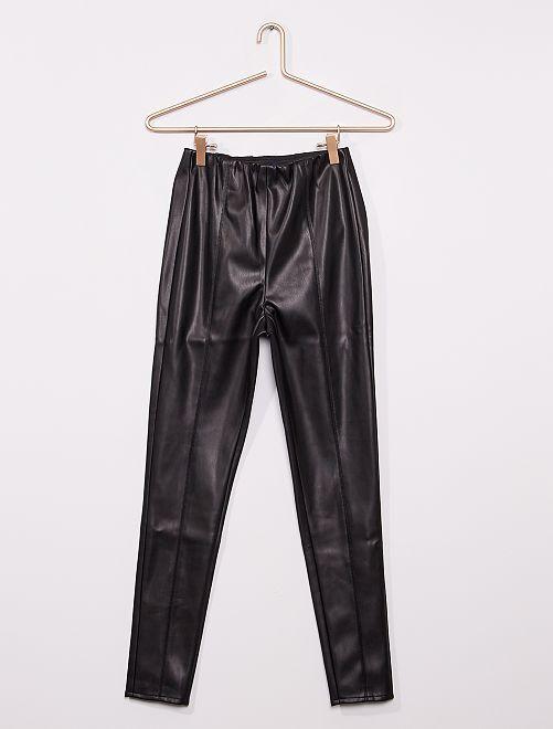 Pantalon skinny en simili                             noir