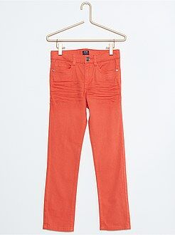 Garçon 4-12 ans Pantalon skinny en twill stretch