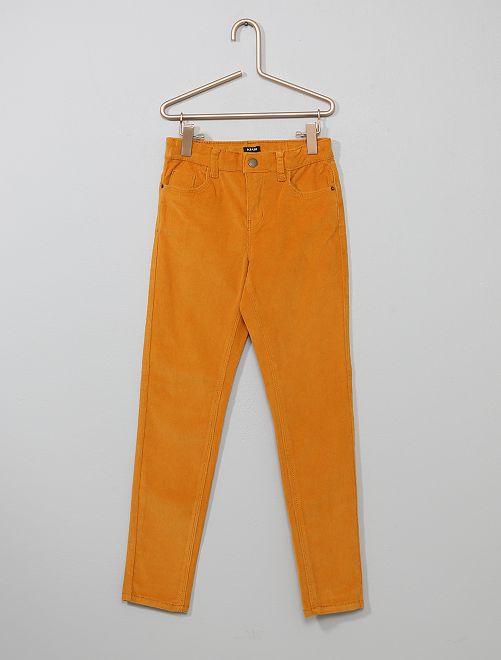 Pantalon skinny en velours côtelé                                                                                         jaune moutarde