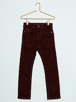 Pantalon - Pantalon skinny en velours stretch