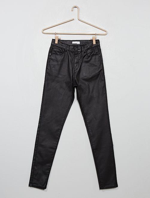 Pantalon skinny enduit                             noir