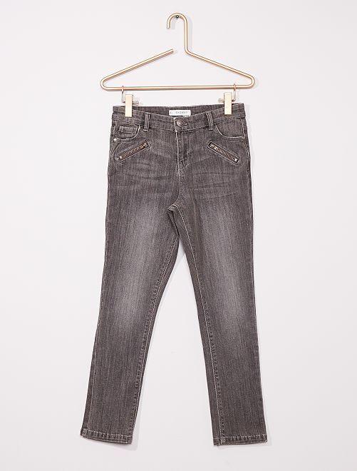Pantalon skinny enfant rond                                         gris