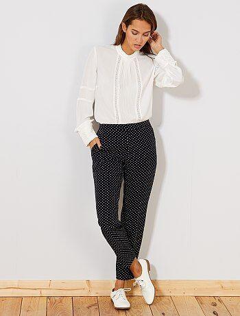 Pantalon skinny imprimé