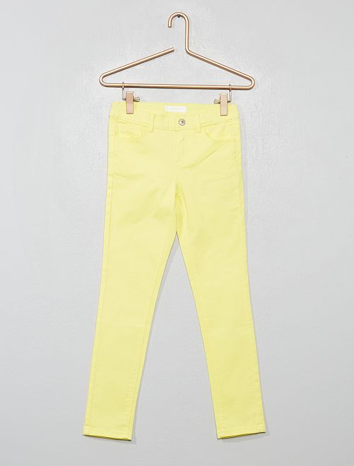 Pantalon skinny                                                                                                     jaune