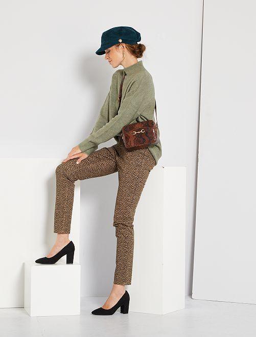 Pantalon skinny multipoches                                                                                                                                                                 léopard