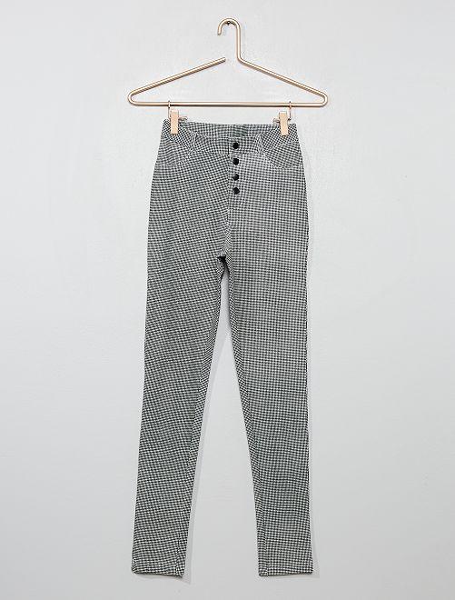 Pantalon skinny                                         noir / blanc