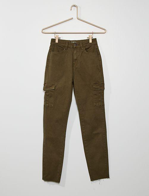 Pantalon skinny poches battles                                         kaki