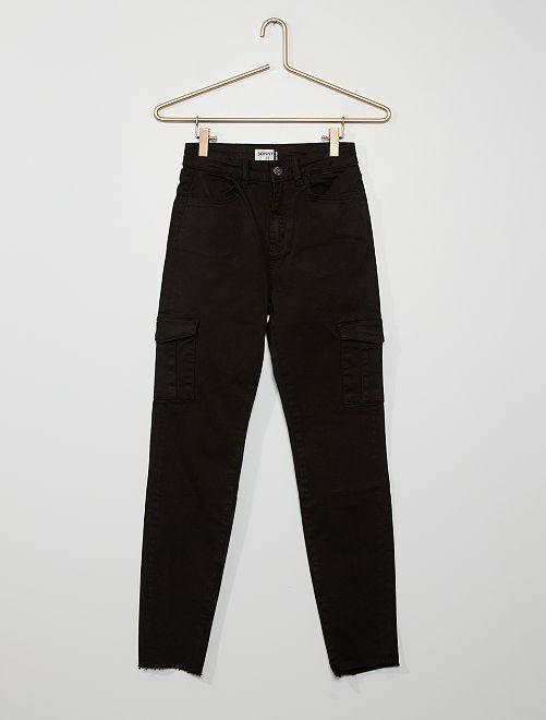 Pantalon skinny poches battles                                         noir