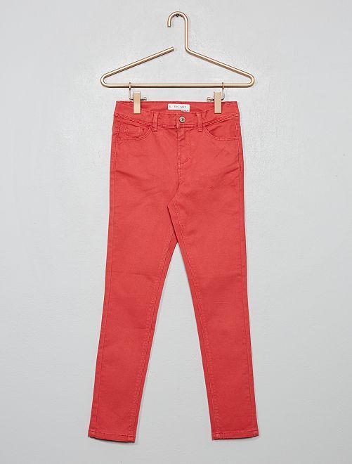 Pantalon skinny                                                                                                     rouge grenat