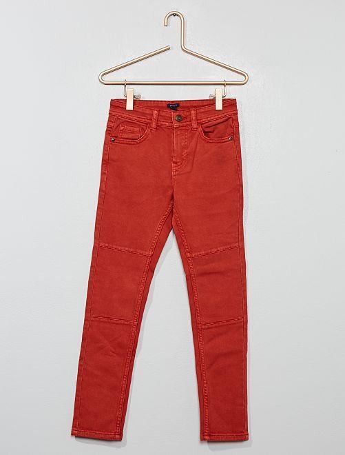 Pantalon skinny                                                                 rouge ocre