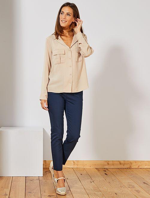 Pantalon skinny stretch 7/8ème                                                     bleu marine Femme