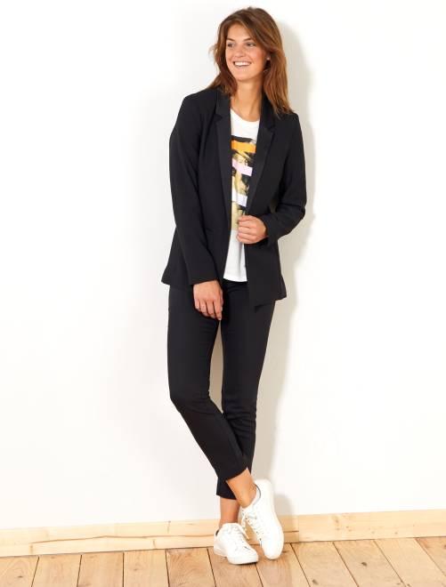 Pantalon skinny stretch 7/8ème                                         noir