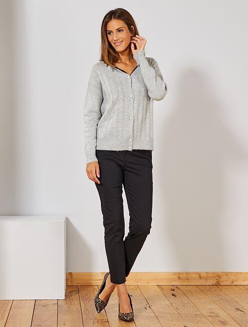 Pantalon skinny stretch 7/8ème                                                     noir Femme