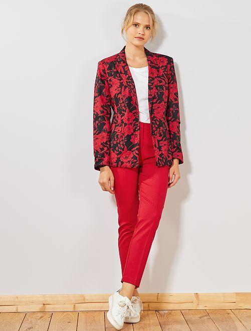 Pantalon skinny stretch 7/8ème                     rouge