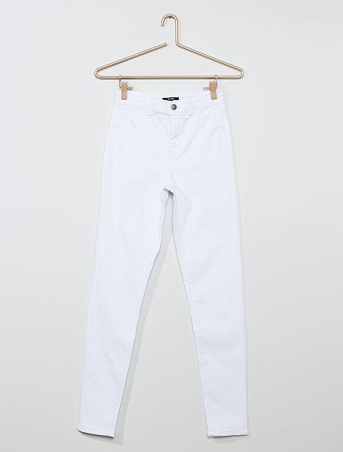 Pantalon skinny stretch                                                     blanc