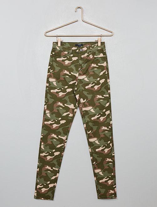 Pantalon skinny stretch 'camouflage'                                                     camouflage