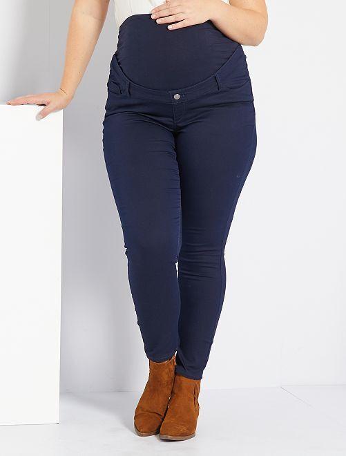 Pantalon skinny stretch de maternité                                                     bleu marine