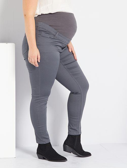 Pantalon skinny stretch de maternité                                         gris