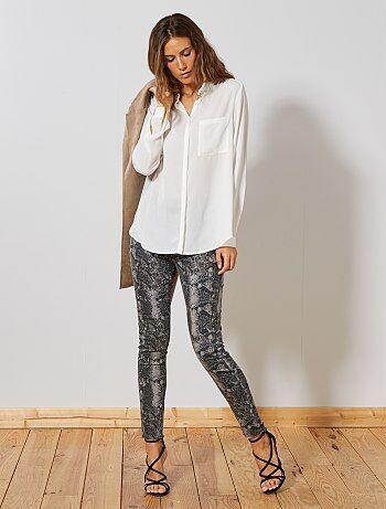 39a75a9230 Pantalon skinny stretch imprimé - Kiabi