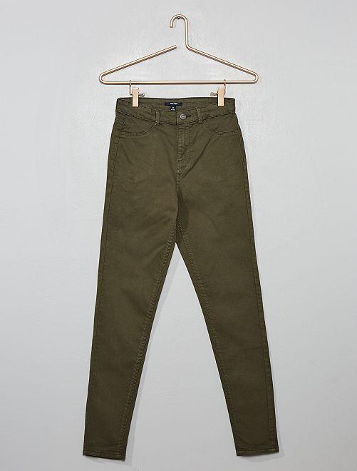 Pantalon skinny stretch                                                     kaki