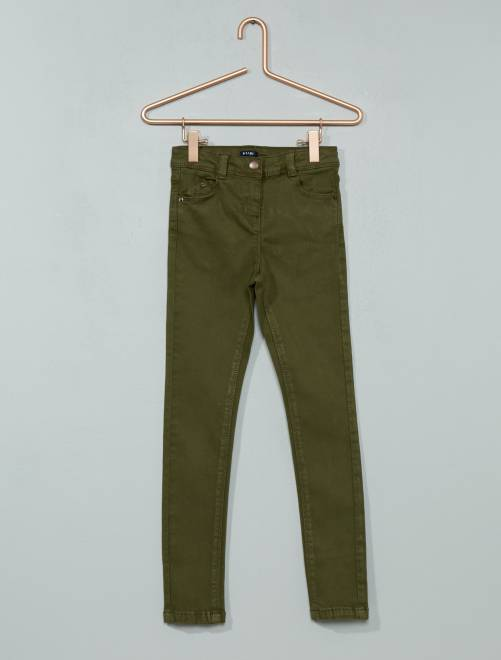 pantalon skinny stretch fille kiabi 12 00. Black Bedroom Furniture Sets. Home Design Ideas