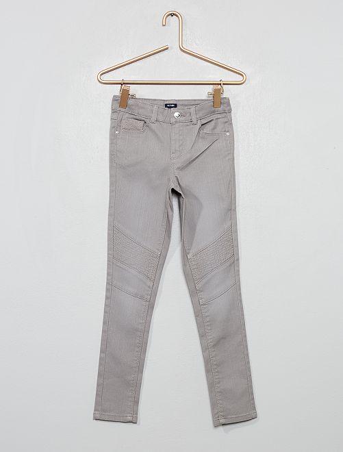 Pantalon skinny style motard                                                     gris
