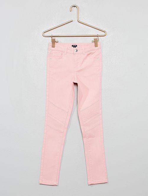 Pantalon skinny style motard                                                     rose