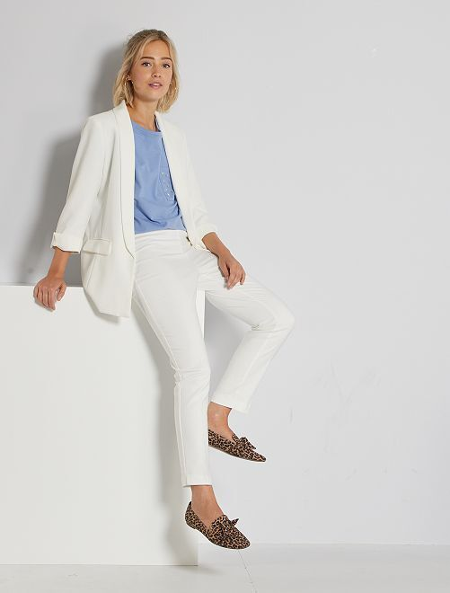 Pantalon skinny taille haute                                                                 blanc